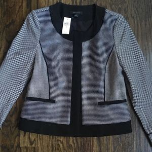$169 Ann Taylor Black and White Cropped Jacket
